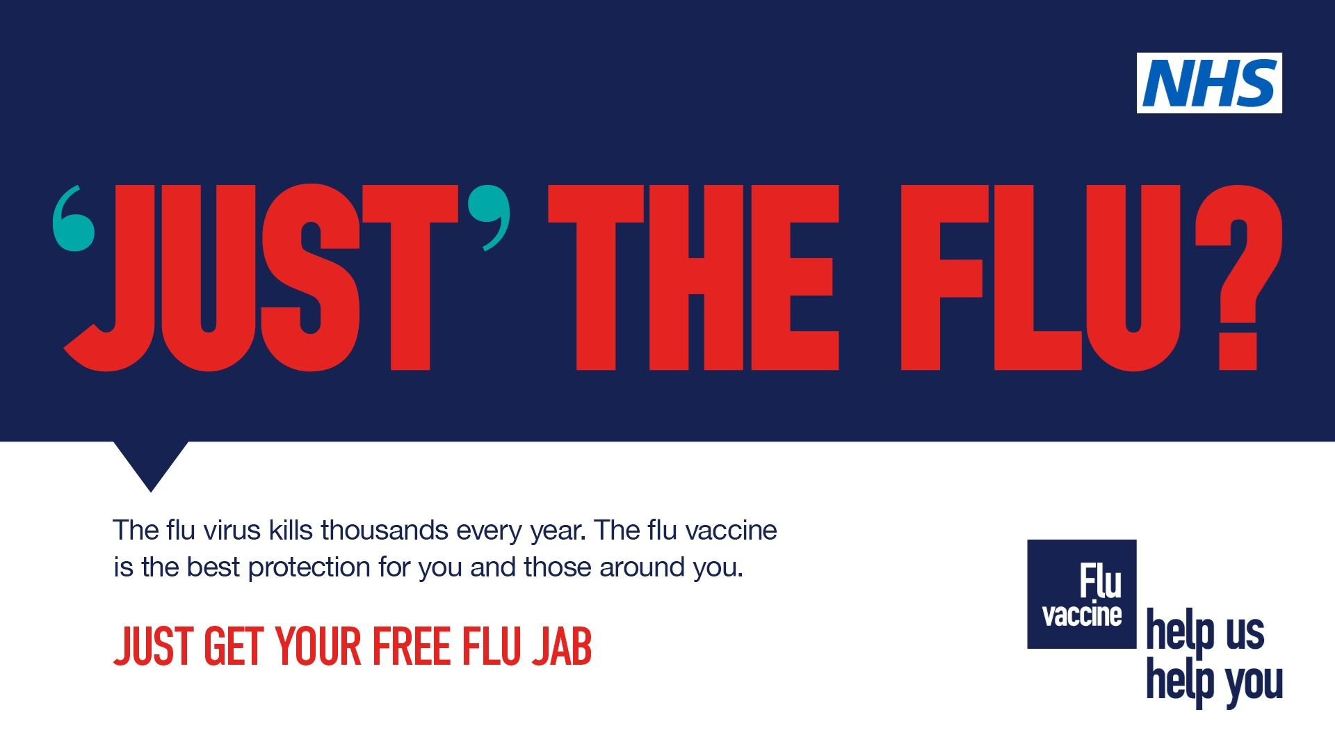 'just'the flu - get your free flu jab